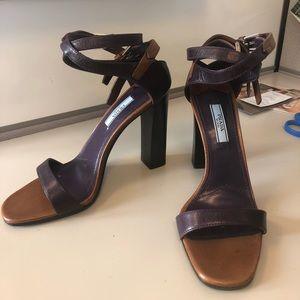 Prada Block Heel Strappy Sandal